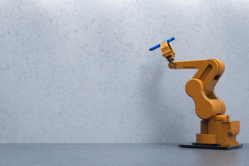 Scrittura del braccio del robot illustrazione di stock