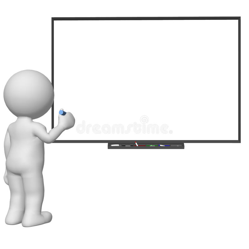 scrittura del carattere 3d sul bordo bianco in bianco royalty illustrazione gratis