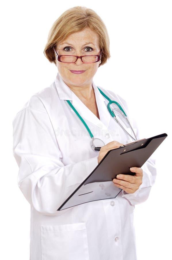 Scrittura del medico fotografie stock