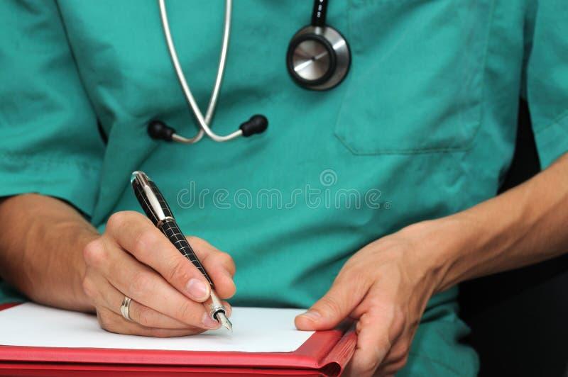 Scrittura del medico immagine stock libera da diritti
