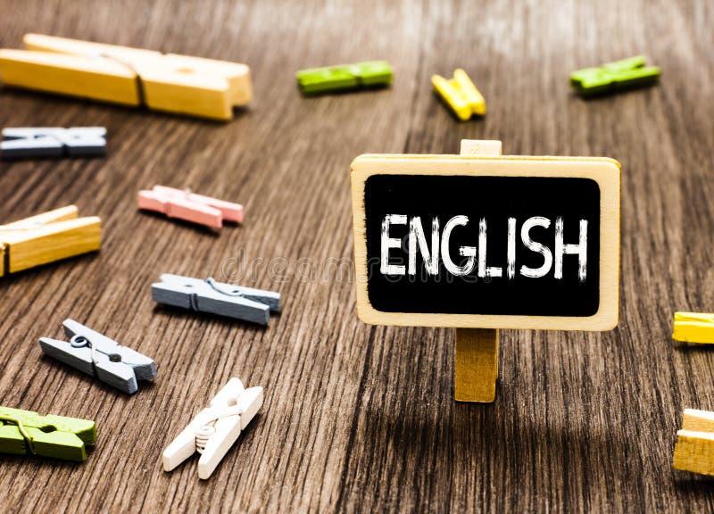 Scrittura del testo della scrittura inglese Significato di concetto relativo alla classe britannica della letteratura della cultu fotografia stock libera da diritti