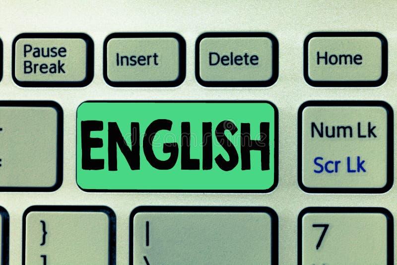 Scrittura del testo della scrittura inglese Significato di concetto relativo alla classe britannica della letteratura della cultu immagini stock libere da diritti