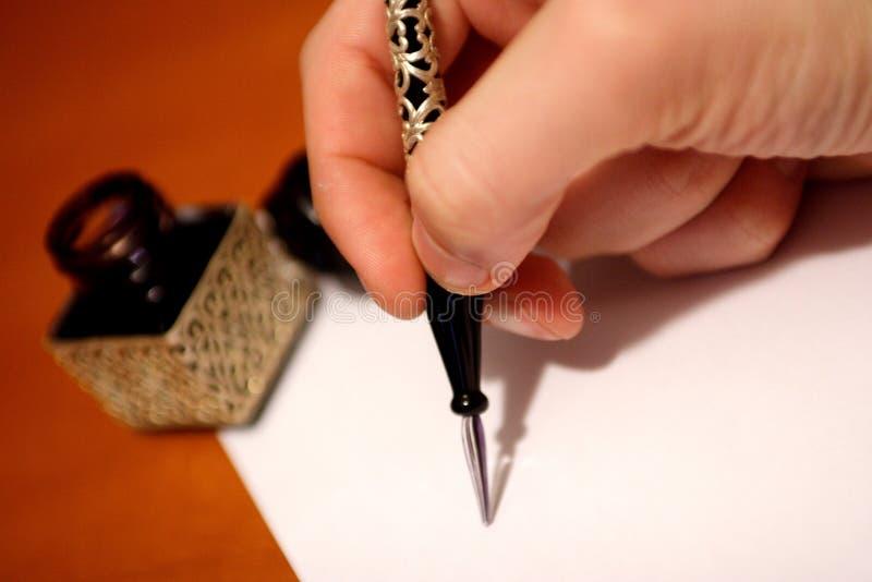 Scrittura della mano fotografia stock