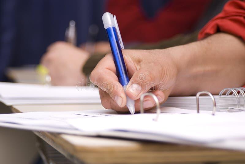 Scrittura della mano fotografia stock libera da diritti
