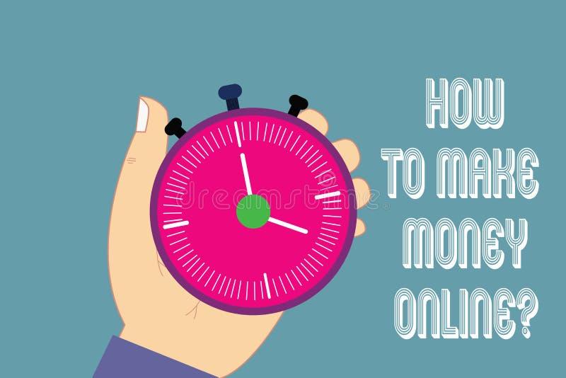 Scrittura della nota che mostra come fare soldi Onlinequestion Foto di affari che montra le strategie per ottenere i guadagni su  illustrazione vettoriale