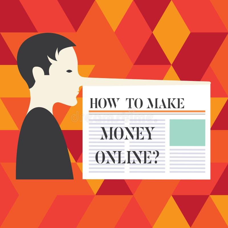 Scrittura della nota che mostra come fare soldi Onlinequestion Foto di affari che montra le strategie per ottenere i guadagni sul illustrazione vettoriale