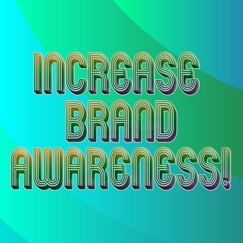 Scrittura della nota che mostra consapevolezza di marca di aumento Montrare della foto di affari convince i influencers per visua illustrazione di stock