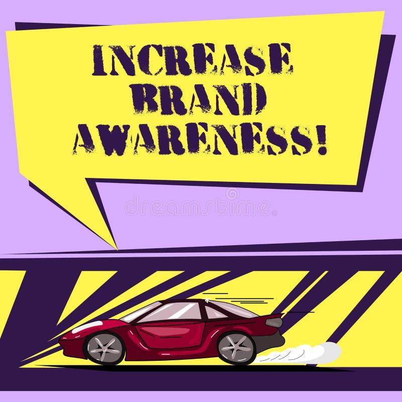 Scrittura della nota che mostra consapevolezza di marca di aumento Montrare della foto di affari convince i influencers per visua illustrazione vettoriale