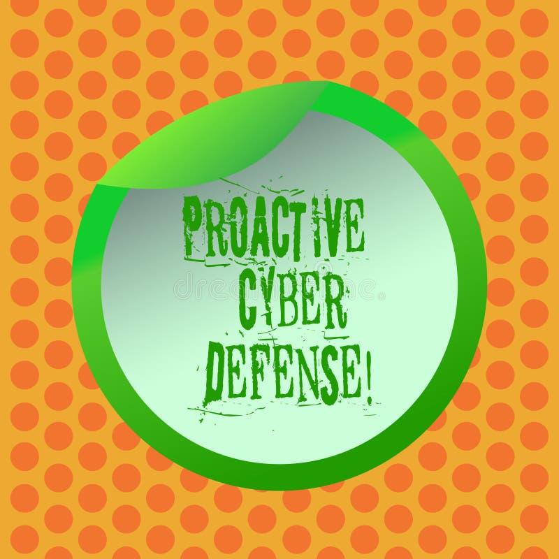 Scrittura della nota che mostra difesa cyber dinamica Foto di affari che montra anticipazione per opporrsi ad una coinvoluzione d illustrazione vettoriale