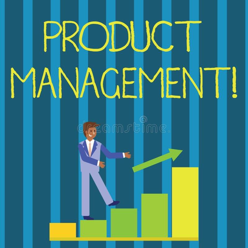 Scrittura della nota che mostra gestione del prodotto Foto di affari che montra servizio organizzativo di ciclo di vita in seno a illustrazione vettoriale
