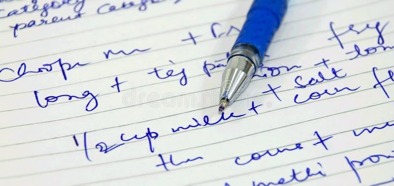Scrittura della penna N fotografia stock
