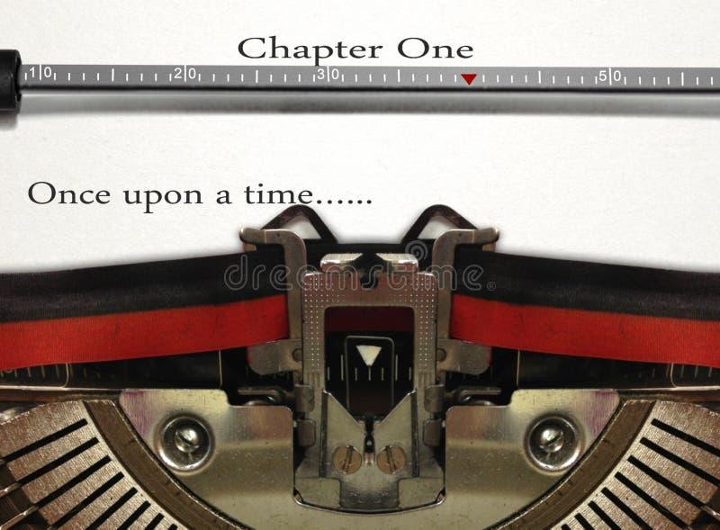 Scrittura di storia della macchina da scrivere fotografia stock libera da diritti