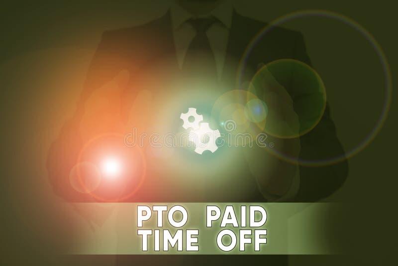 Scrittura di testo Paid Time Off Concetto aziendale per il datore di lavoro concede una compensazione per la dimostrazione delle  immagini stock libere da diritti