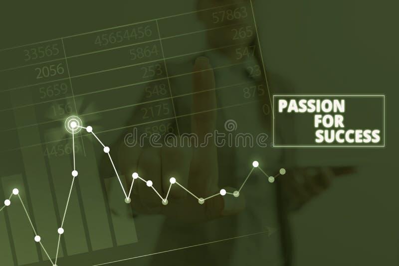 Scrittura di una nota che mostra la passione per il successo Foto di business che mostrano entusiasmo Zeal Drive Motivazione Spir fotografie stock libere da diritti