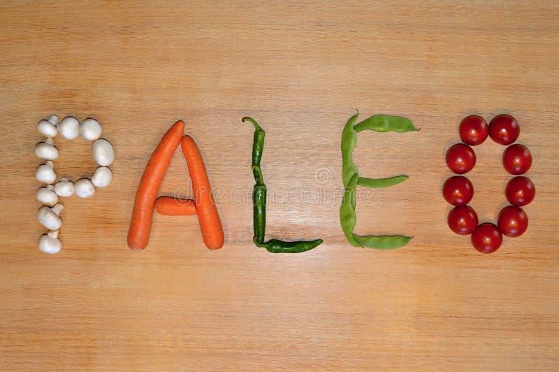 Scrittura di verdure: Paleo fotografia stock libera da diritti