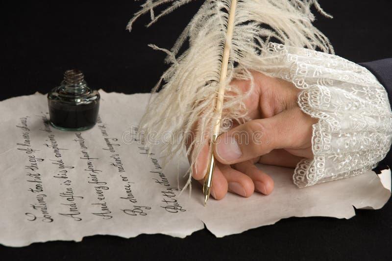 Scrittura a mano immagine stock libera da diritti