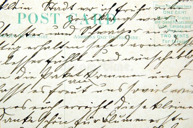 Scrittura a mano dell'annata fotografia stock