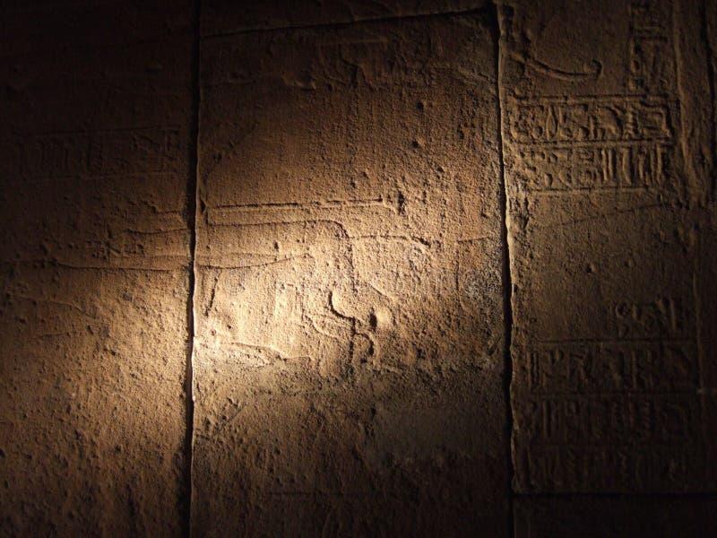 Scritture egiziane antiche immagine stock