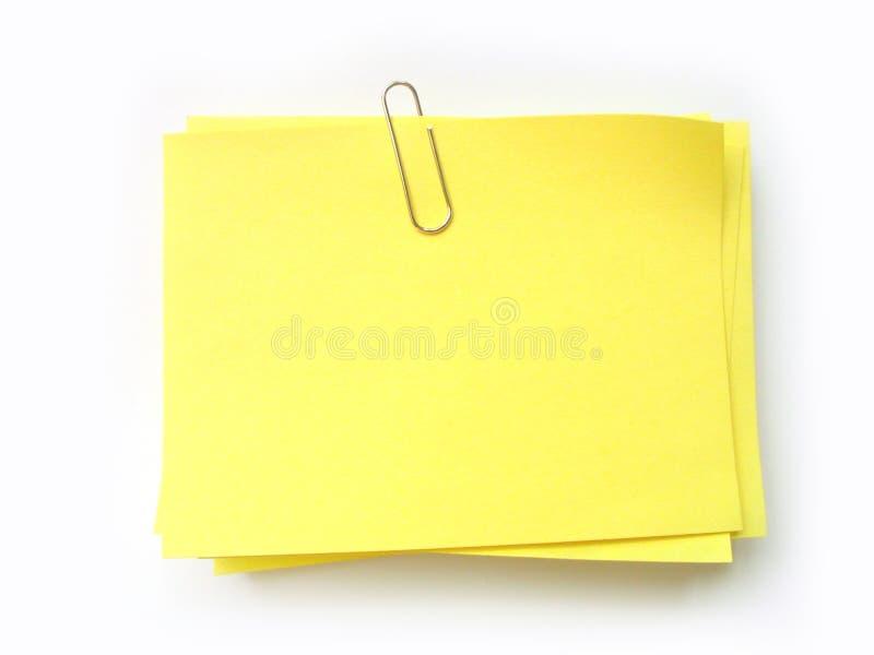 Scriva la nota su esso! fotografia stock