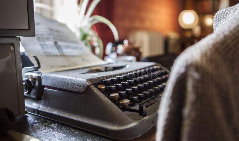 Scriva lo scrittore a macchina fotografia stock
