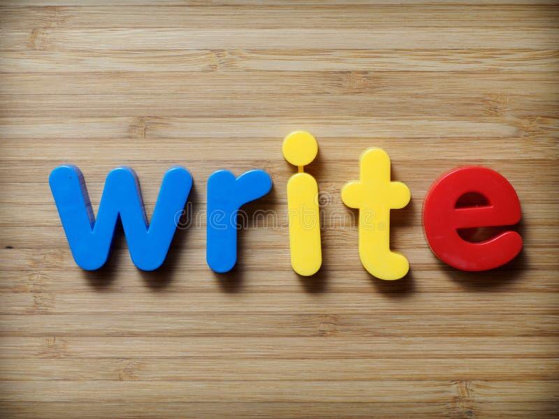 Scriva o scrittura fotografia stock libera da diritti