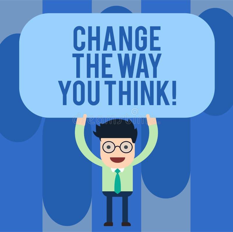 Scrivendo la rappresentazione della nota cambi il modo che pensate La foto di affari che montra cambiando le vostre idee ha immag royalty illustrazione gratis