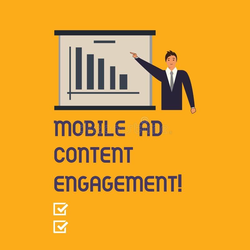 Scrivendo a rappresentazione della nota impegno mobile del contenuto dell'annuncio Foto di affari che montra media sociali che an royalty illustrazione gratis