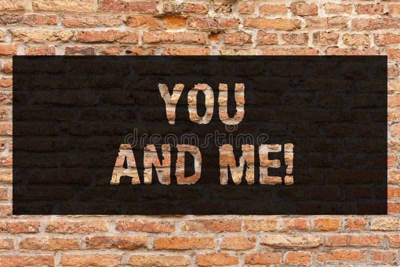 Scrivendomi a rappresentazione della nota voi e Foto di affari che montra espressione di compromesso di relazione delle coppie ro illustrazione di stock