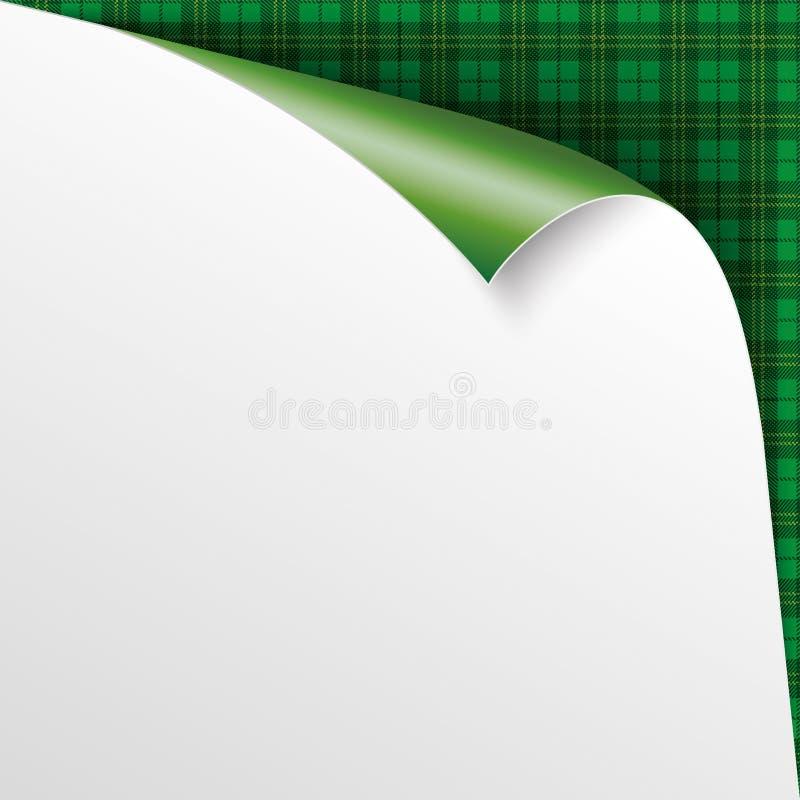 Scroled纸绿色爱尔兰格子呢样式 皇族释放例证