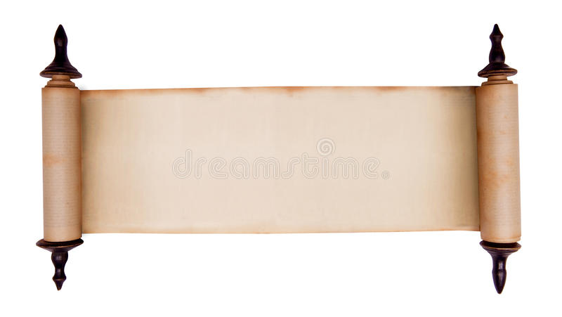 Scroll. Blank old scroll isolated on white (clipping path included royalty free stock photos