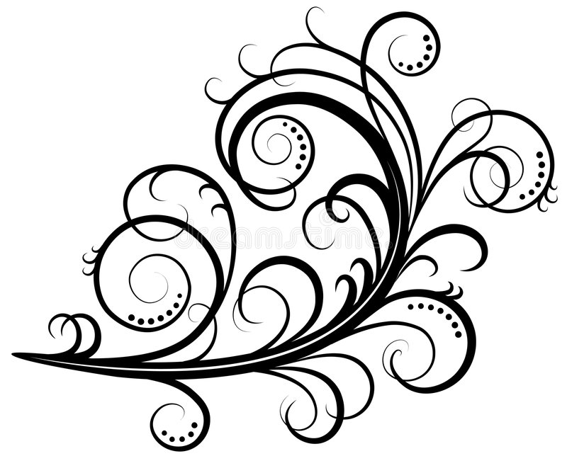 Download Scroll stock illustration. Image of nouveau, flower, cartouche - 6434759