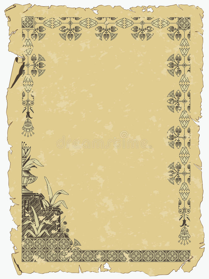 Download Scroll of Ancient Egypt stock vector. Illustration of exotic - 15813332