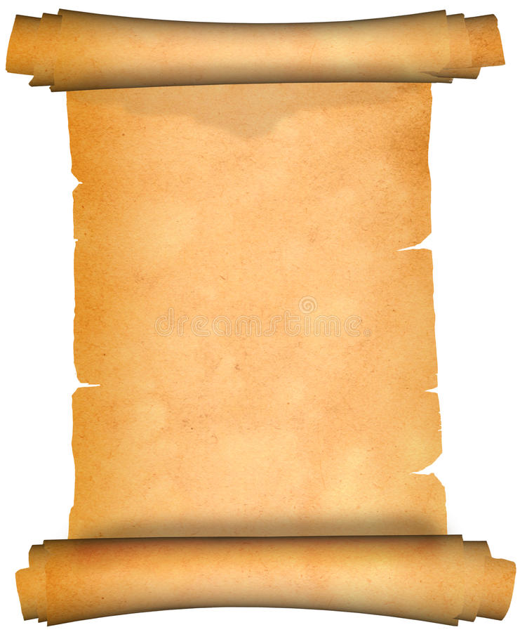 Scroll of ancient parchment royalty free stock photos