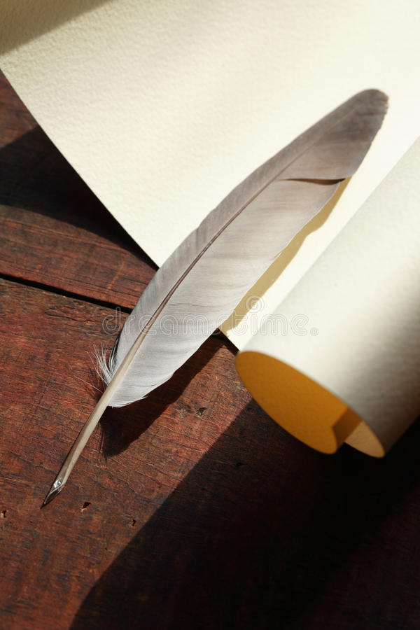 Free Scroll And Quill Stock Photography - 19508862