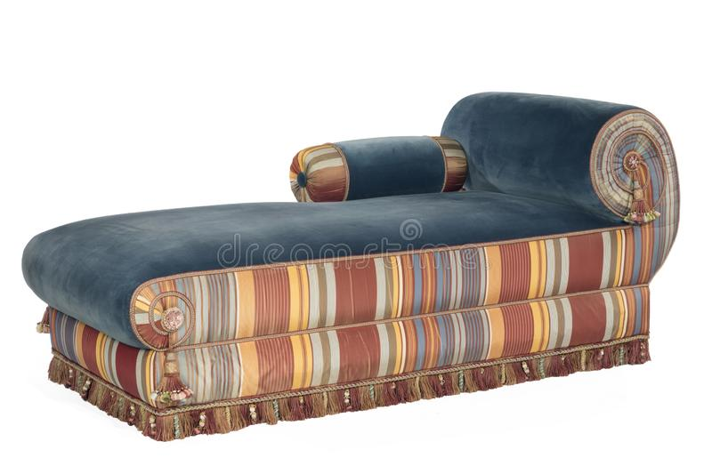 Excellent Scroll Arm Sofa Chaise Longue Or Day Bed Stock Image Image Onthecornerstone Fun Painted Chair Ideas Images Onthecornerstoneorg