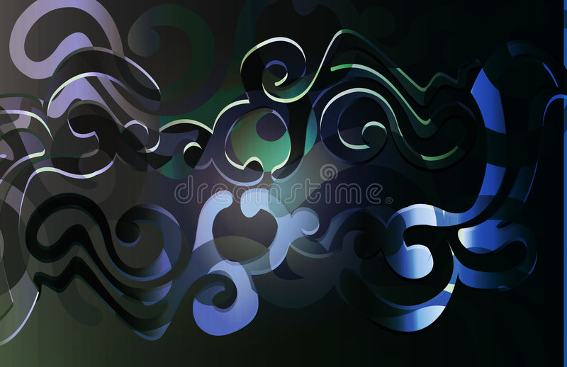 Scroll_black de Kashmire illustration stock