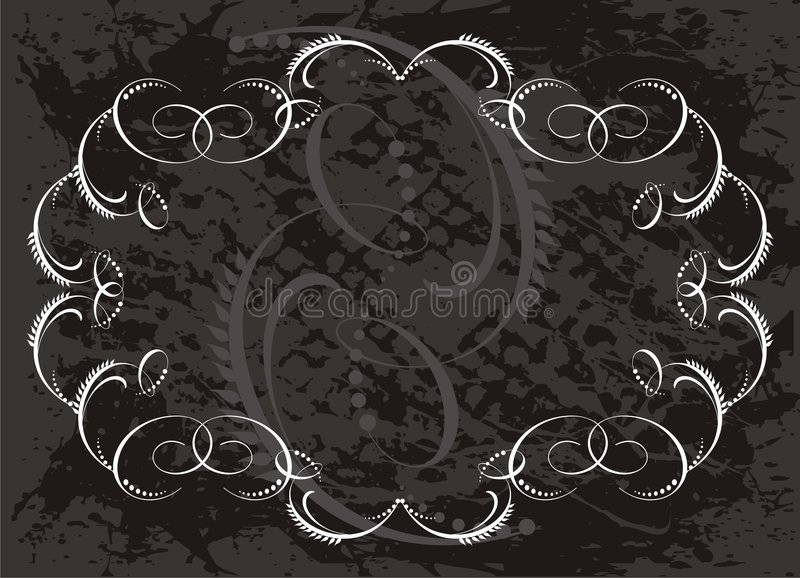 Scroll border vector illustration