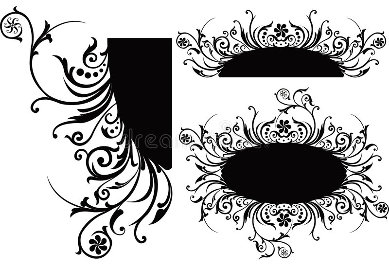 Download Scroll, Cartouche, Decor, Vector Stock Vector - Illustration of floral, book: 462617