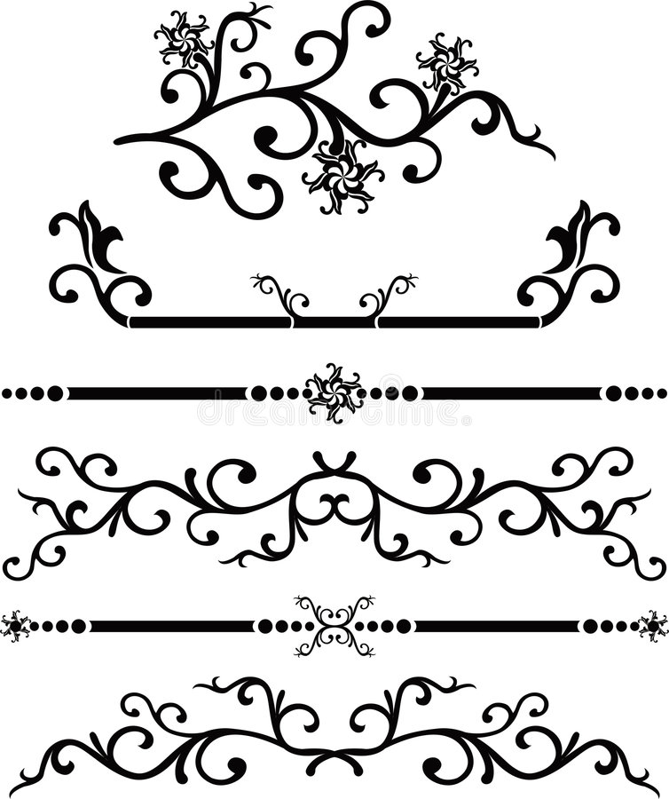 Free Scroll, Cartouche, Decor, Vector Royalty Free Stock Photo - 464805