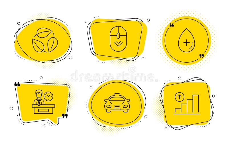 color graph chart icons set  vector stock vector