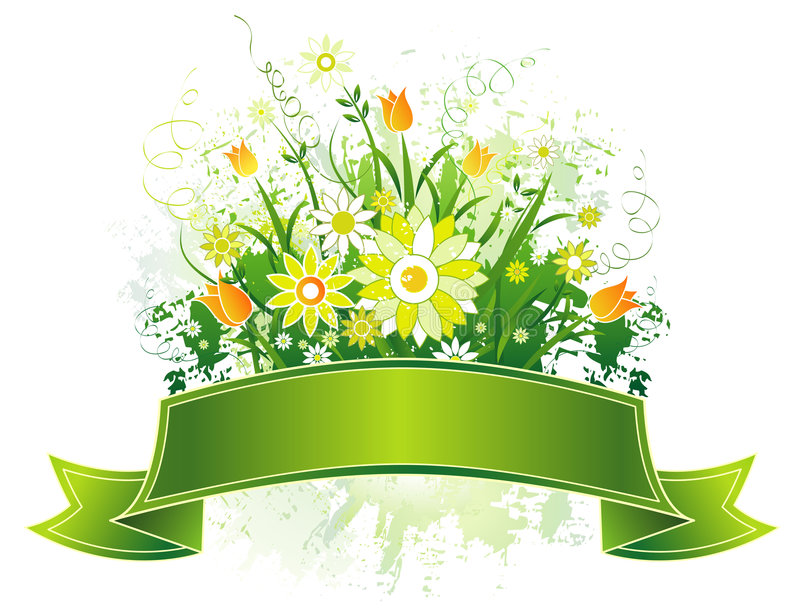Download Scroll And Flowers, Vector Royalty Free Stock Photos - Image: 2027498