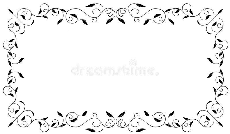 Scroll frame stock vector. Illustration of vintage, ornament - 6078403