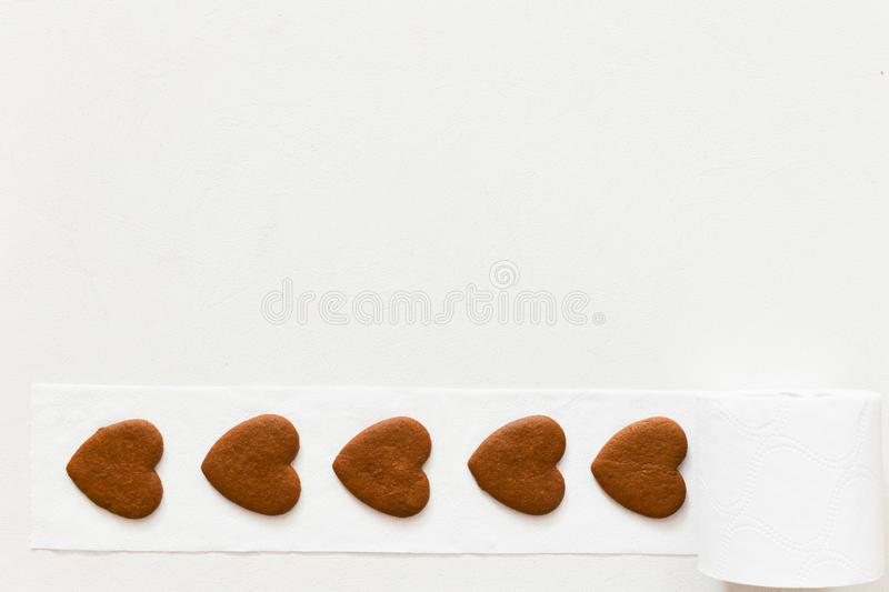 Scroll of hearts, coiling of lost hearts. lonely people without love.  royalty free stock photo