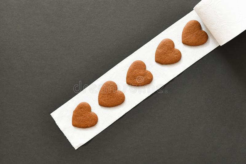 Scroll of hearts, coiling of lost hearts. lonely people without love.  stock images
