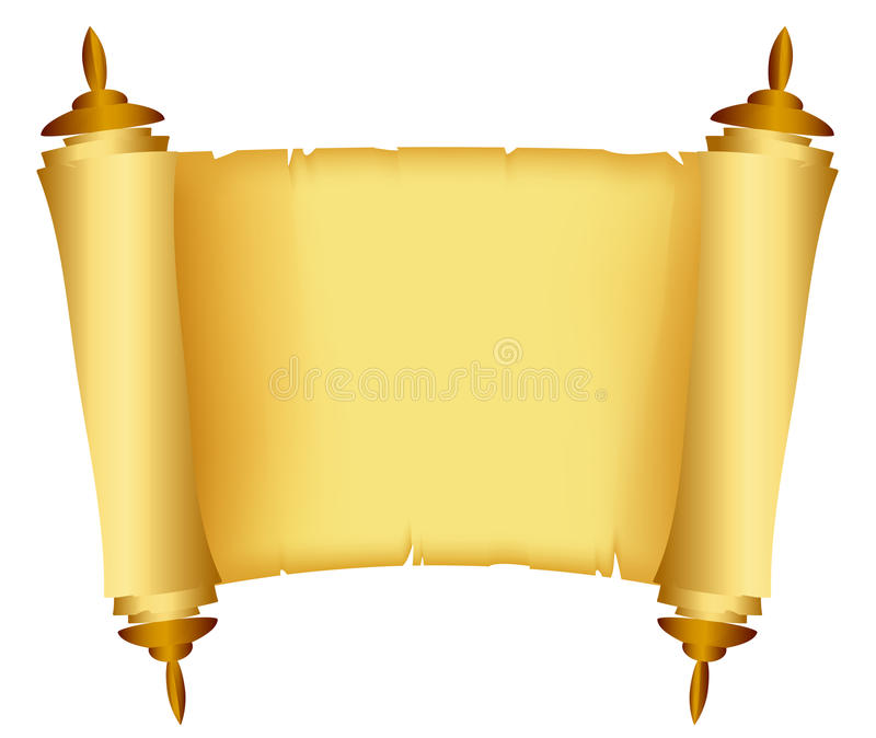 Scroll of the Law. Vector illustration of Scroll of the Law vector illustration