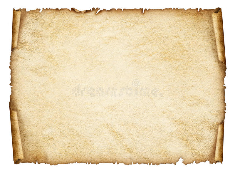 Scroll old paper sheet, Vintage aged old paper. royalty free stock images