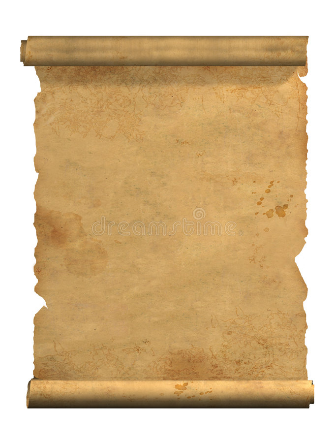 Scroll of old parchment stock photos