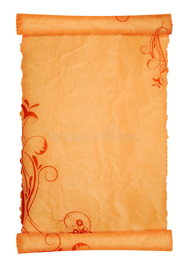 Scroll paper royalty free stock image
