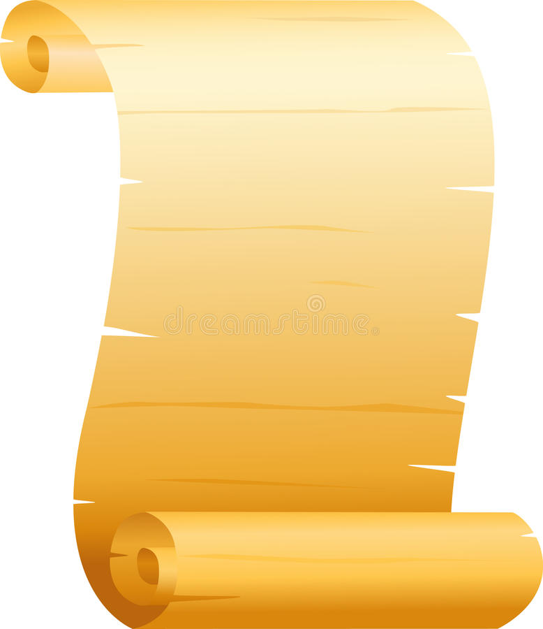 Scroll Paper Stock Photography