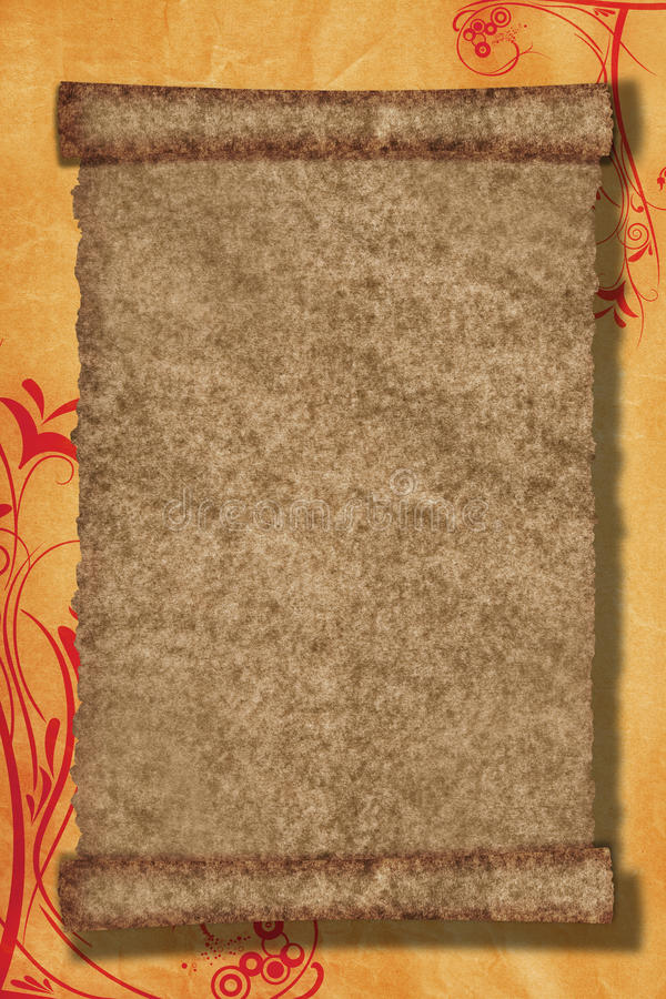 Scroll paper background royalty free stock image